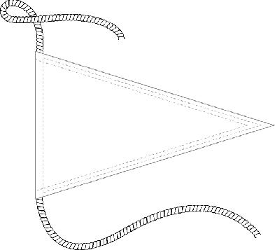 Para barco con cuerda suelta arriba y abajo