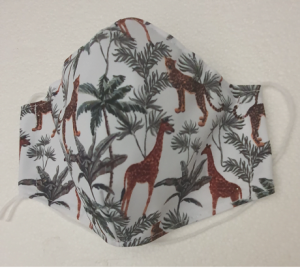 Mascarilla personalizada estampado palmera y jirafa-BPH