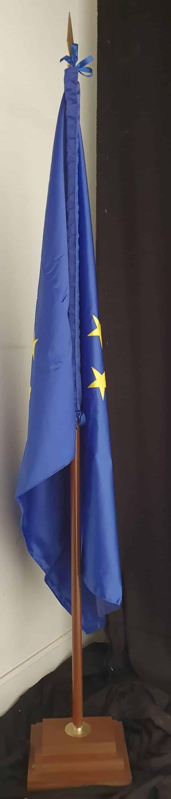 Bandera de Unión Europea de raso para despacho-BPH